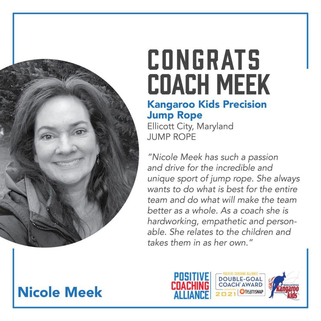 2021 PCA Winner - Coach Nicole